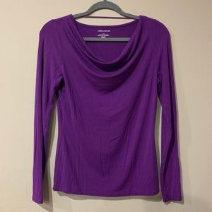 Lord & Taylor Purple Cowl-neck Blouse 💜